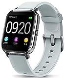 NAIXUES Smartwatch, Reloj Inteligente Impermeable IP67 Reloj Deportivo 1.4' Pantalla Táctil Completa con Pulsómetro, Monitor de Sueño, Podómetro, Notificaciones para Mujer Hombre (Gris)