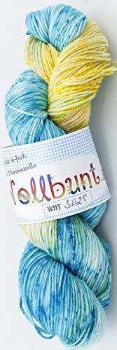 Handgefärbte 100% Merino High Twist Wolle leuchtend grün