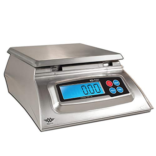 My Weigh KD-7000 Kitchen And Craft Digital Scale, Silver + My Weigh AC Adapter