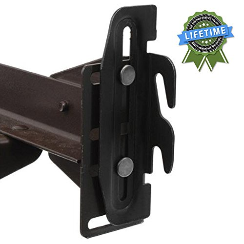 #35 Hook Plate Conversion Adapter Kit for Using a Bolt-On Frame with a Hook-On Headboard- Pack of 4
