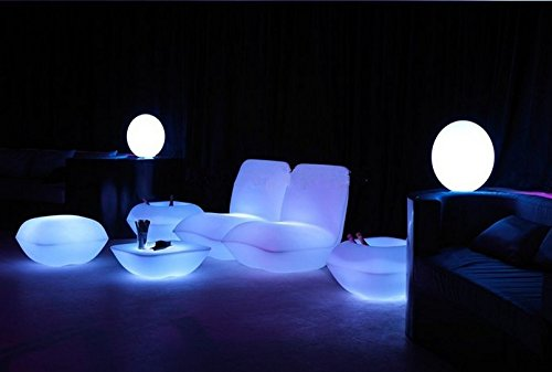 Gowe Vondom Coussin imperméable à l'eau avec LED pour décorer votre salon, piscine, jardin, bar, terrasse, etc.