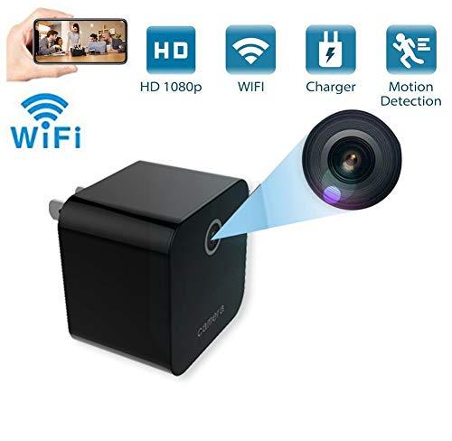 Futursd WIFI Remote IP Surveillance Camera 1080P HD Mini Nanny Cams Nachtzicht Bewegingsdetectie Multi-functie Socket (kleur : Zwart)