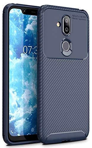 Hülle Collection Carbonfaser Design Hülle für Nokia 8.1 Hülle (6,18