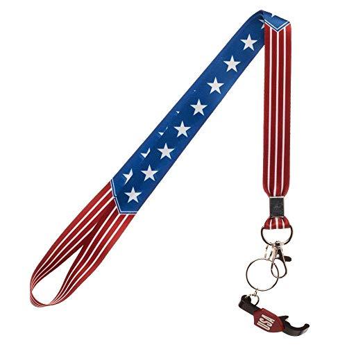 Americana USA Flag Lanyard w/Bottle Opener Key Chain