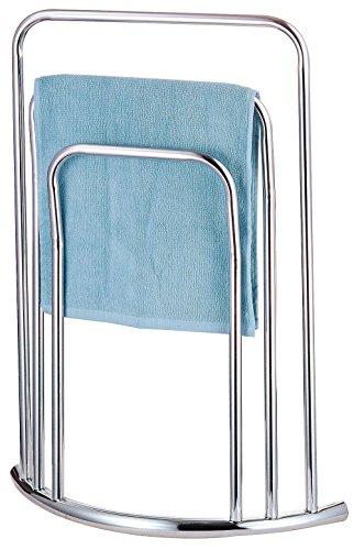 HIGH Quality Chrome Free Standing 3 BAR Towel Rail Bathroom Rack Holder...