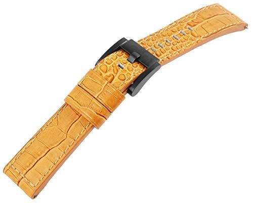 Marc Coblen 22mm Leder Uhren Armband massiv Camelfarben Ersatzband Dornschließe