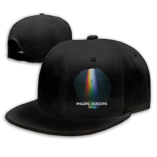 """Yearinspace - Cappellino da baseball con scritta """"Imagine Dragons Evolve"""", unisex, regolabile, colore: Nero"""
