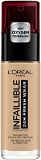 L'Oréal Paris Make-up designer 24H Fresh Wear Base de Maquillaje de Larga Duración , Tono 200 Sable Doré- 30 ml