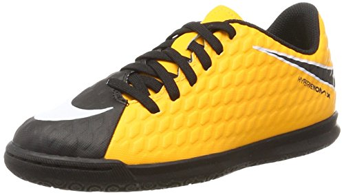 Nike Hypervenomx Phade III IC, Scarpe da Calcio Unisex-Bambini, Arancione (Laser Orange/Black/Black/Volt), 36 EU