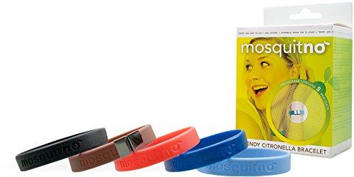 MosquitNO Set, besteht aus 5 Armbändern und 1 Clip