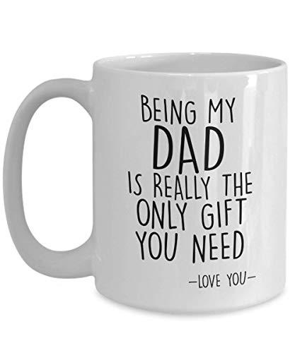 IconicPassion Funny Dad Gifts - Taza para padre, blanco
