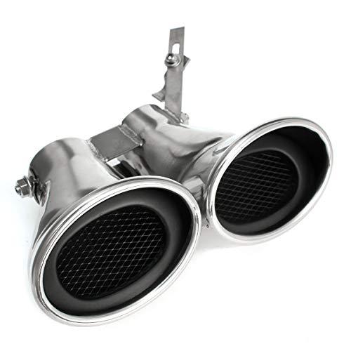 MLX Auto Auto-hinteres Endstück Throat Liner Edelstahl Doppel-Auspuff-Rohr for Mercedes-Benz -AMG C-Klasse W203 C240 C320 QGWQG
