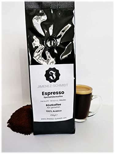 Spezialitätenkaffee aus Mexiko | Espresso fein gemahlen | Espressokaffee | 100% Arabica | säurearm | langsame Trommelröstung | frische Ernte 2020 | Bio Anbau | specialty coffee | 250g Packung