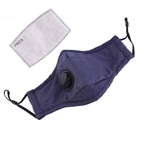 Reusable and Breathable, 1 Pc Face Bandanas, Anti-Haze Dust, for Adults (1Pc+1Pc Fiter)