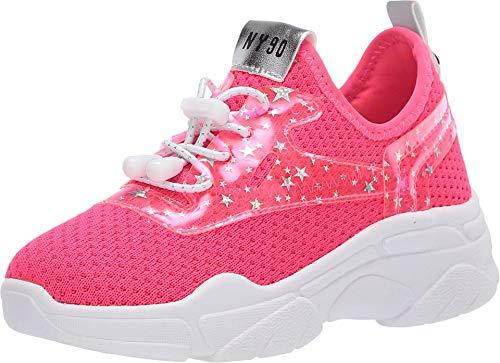 Steve Madden Jmyless 593 Zapatillas De Deporte Para Niñas, Color Rosa Neon, 23