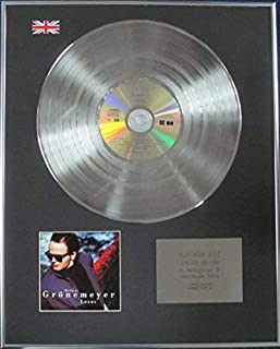 HERBERT GRONEMEYER - Limited Edition CD Platinum Disc - LUXUS