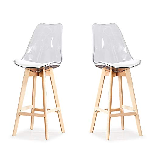 Lot de 2 chaises Transparentes - Gotteborg