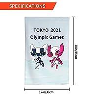 Xmbeirui 2021オリンピック旗 大日本帝国旗 Flag スポーツ用品 ポリエステル繊維素材 防水生地 装飾旗 旗 ガーデンフラッグ(30x45)オリンピック競技 Olympic Games2021fhj26