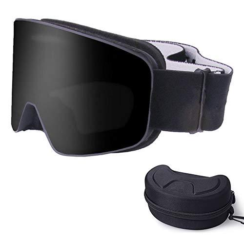 ZXLIFE@@@ OTG anti-condens snowboardbrillen voor dames en heren, skibrillen, universele helm-compatibiliteit, bieden een geweldige visuele ervaring. child zwart