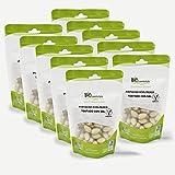 BIOCOMERCIO | Pistacho Ecológico Tostado con Sal| Pistachos Naturales con piel | 1 kilo | 10 bolsas x 100 gr | Pistachos enteros | Frutos secos | Producto ecológico y orgánico | BIO