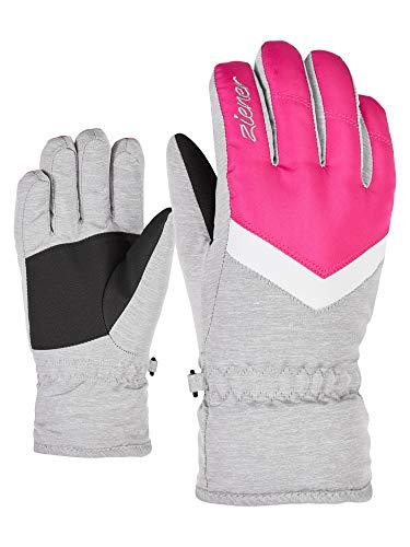 Ziener Mädchen LANDALA GIRLS glove junior Ski-handschuhe/Wintersport, pop pink/Light Melange, 3