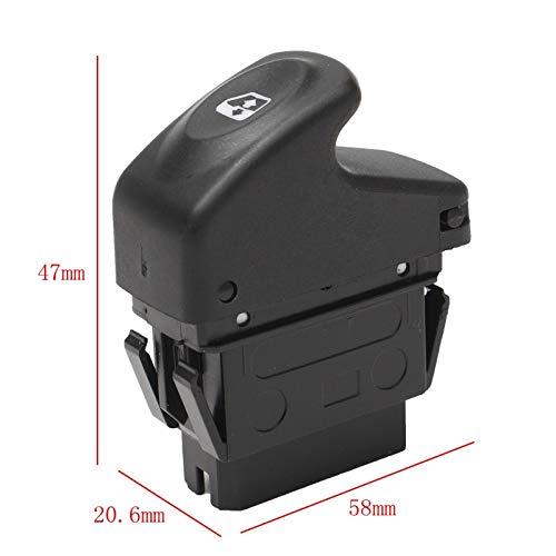 OLDJTK Interruptor de botón de Ventana eléctrica del Espejo for Renault/Kangoo/Megane/Clio 7700838100 58x20.6x47mm