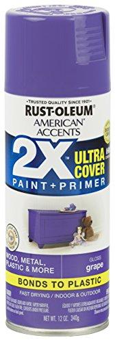 Rust-Oleum 327894 American Accents Spray Paint, 12 Oz, Gloss Grape