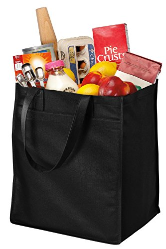 Port & Company luggage-and-bags Extra Wide Polypropylene Grocery OSFA Black by Port...