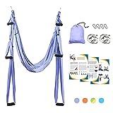 Sotech - Antigravity Yoga Hammock, Yoga Swing Set, Light Purple, Daisy Chain 1.2 Meters, Tamaño: 250 x 150 cm, Tamaño Plegado: 26 x 24 x 11 cm