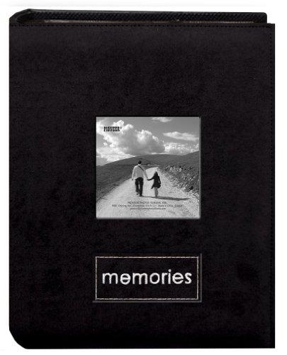 Pioneer Photo Albums PTCH-100 álbum de fotos bordado camurça sintética com 100 bolsos, preto