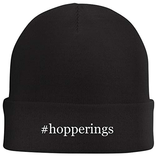 Tracy Gifts #Hopperings - Hashtag Beanie Skull Cap with Fleece Liner, Black, One Size