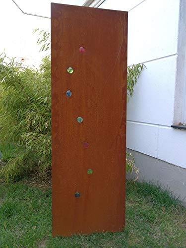 Zen Man Edelrost Garten Sichtschutz aus Metall Rost Gartenzaun Gartendeko edelrost Sichtschutzwand H180*50cm 031767-3