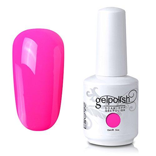 Elite99 Gel Nail Polish Soak Off UV LED Gel Lacquer Nail Art Manicure Bright Pink 558 15ml