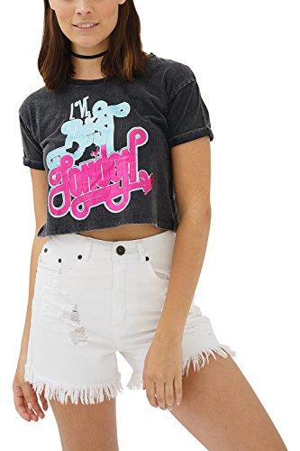 trueprodigy Casual Mujer Marca Camiseta con impresión Estampada Ropa Retro Vintage Rock...