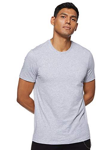 Armani Exchange Pima Small Logo Camiseta, Gris (B09b Heather Grey 3929), Hombre