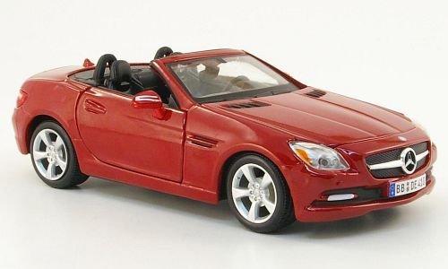 Mercedes SLK-Klasse (R172), dkl.-rot, Modellauto, Fertigmodell, Maisto 1:24