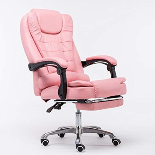 ESGT Sedia da Ufficio Girevole Direzionale Sedia da Gioco con Poggiapiedi Sedia da Scrivania Reclinabile in Pelle Poltrona Sedia da Gioco Mobili per Ufficio
