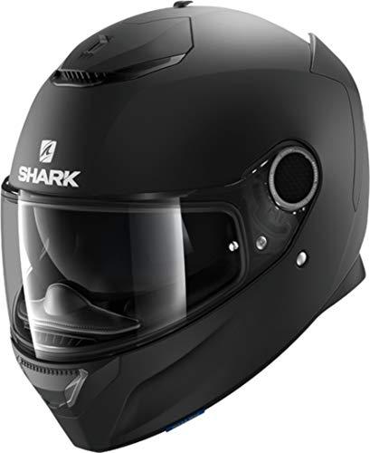 SHARK Spartan Casco de Moto, Hombre, Nero Opaco, XL