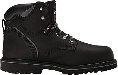 "Timberland PRO Men's Pitboss 6"" Steel-Toe Boot, Black , 7.5 D - Medium"