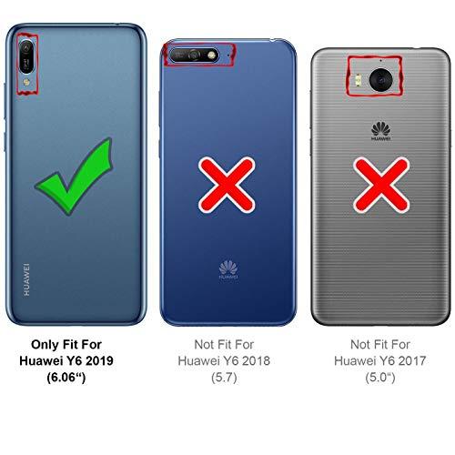 Verco Handyhülle für Y6 2019, Premium Handy Flip Cover für Huawei Y6 (2019) Hülle [integr. Magnet] Book Case PU Leder Tasche, Blau
