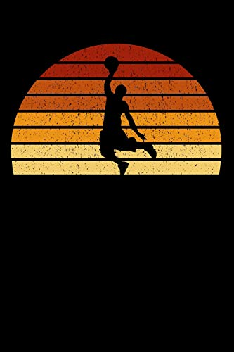 Basketball Player Notebook: Vintage Sunset Basketball 6 x 9 (A5) Graph Paper Squared Journal Gift For Basketball Players And Basketballers (108 Pages)