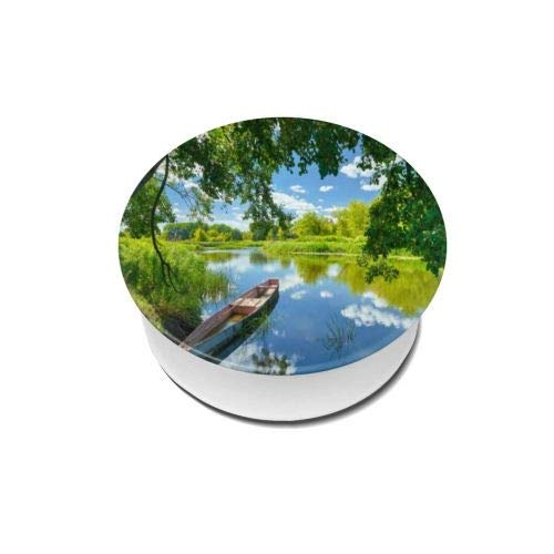 Small Stream and Boat Picture car Mobile Phone Round airbag Holder