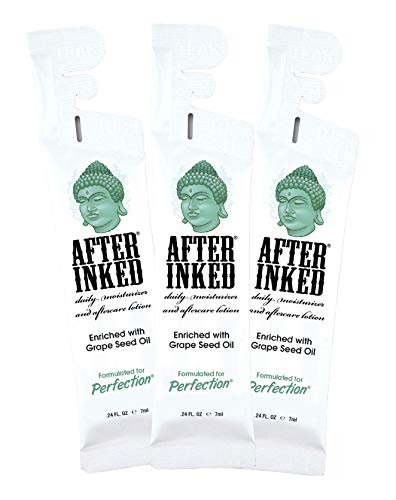 After Inked Tattoo Moisturizer & Aftercare Lotion 7ml Pillow Pack (3-Pack)
