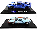 OPO 10 - Lote de 2 Autos: Compatible con Ford GT 2017 + GT40 Gulf # 9 Winner Le Mans 1968 (S33 + LM04)