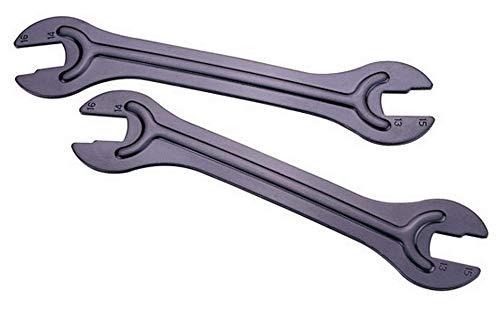 IceToolz Kit de 2 clé à Cones (13, 15+14, 16) (13,15+14,16) Mixte Adulte, Gris