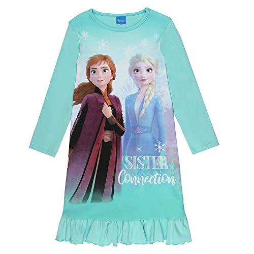 Disney Mädchen Die Eiskönigin, Frozen, Nachthemd, blau, Größe 116, 6 Jahre