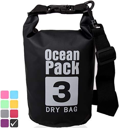 Xenobag waterdichte tas 3 liter of 20 liter/droogzak, klein/Ocean Pack 3 l of 20 l / waterdichte zak / Drybag met verstelbare schouderriemen en veiligheidssluiting