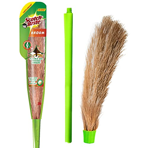 Scotch-Brite No-Dust Broom, Long handle, Easy floor cleaning (Multi-use)