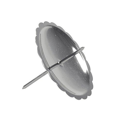 Riffelmacher 10702 - Adventskerzenhalter silber, Durchmesser 6 cm, 4 Stück im Beutel, Adventskranz, Weihnachten, Dekoration, Stecker, Gesteck