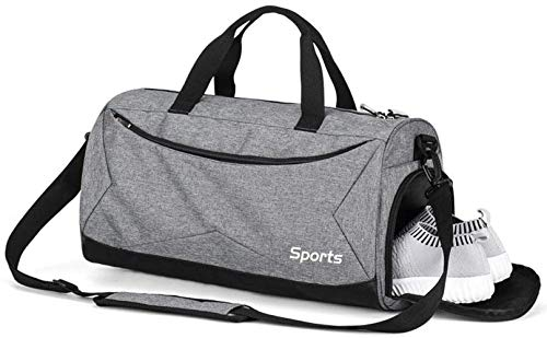 Gym Bag Duffel Bag Shoulder Handbags Luggage Messenger Pack Dry and Wet Item Separating for Men and Women Sports Travel Fitness Swimming,Black (B)